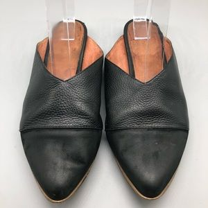 Anthropologie Matiko black leather mules / flats